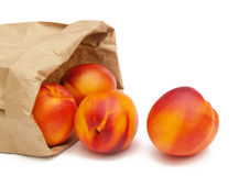 Nectarines in a bag Royalty Free Stock Photography
