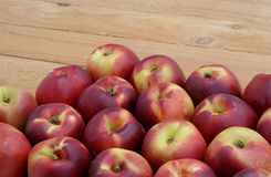 Nectarines on the boards Stock Images