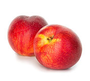 Nectarines d'isolement sur le blanc photo stock