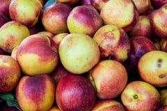 Nectarines fond ou contexte Photos libres de droits