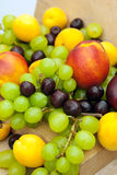 Nectarines grapes apricots and cherries royalty free stock images