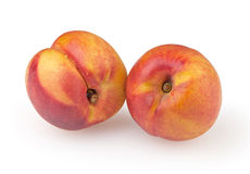 Nectarines isolated on white. Background with clipping path Royalty Free Stock Images
