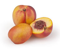 Nectarines isolated on white Royalty Free Stock Photography