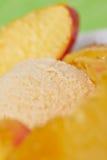 Nectarines with nectarine ice cream Stock Images