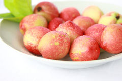Nectarines. Are the progeny of a cross between a plum and a peach Royalty Free Stock Images