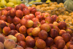 Nectarines for sale Royalty Free Stock Image