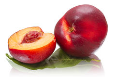 Nectarines on white Royalty Free Stock Images