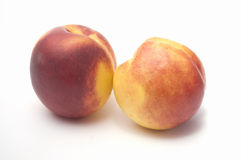 Nectarines on white background Royalty Free Stock Photo