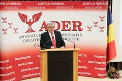 Neculai Ontanu que toma um discurso em uma conferência do ADER Foto de Stock Royalty Free