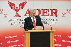 Neculai Ontanu que toma um discurso em uma conferência do ADER Imagem de Stock Royalty Free