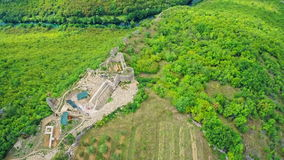 Necven fortress, aerial stock video footage