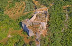 Free Necven Fortress Remains On The West Side Of Mountain Promina In Croatia, Aerial Royalty Free Stock Images - 179269489