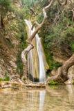Neda siklawa w Grecja Piękny turystyczny miejsce przeznaczenia zdjęcia royalty free
