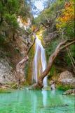 Neda Waterfall em Grécia Imagens de Stock