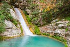 Neda Waterfall en Grecia Imagenes de archivo