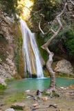 Neda Waterfall i Grekland Fotografering för Bildbyråer