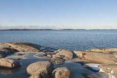 Nedanför - att frysa punkt vid havet Fotografering för Bildbyråer