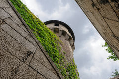 Nedanför Buda Mace Tower arkivbilder