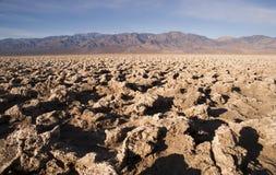 Nedanför havsnivåjäkels golfbana Death Valley Royaltyfri Foto