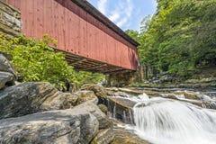 Nedanför Packsaddle täckte bron Royaltyfri Foto
