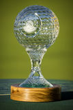 Nedbank Golf Challenge, Seniors Trophy. Sun City - Nedbank Golf Challenge, Seniors - crystal glass trophy Royalty Free Stock Photos