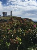 Neddick Maine de cap de phare de protubérance Photos libres de droits