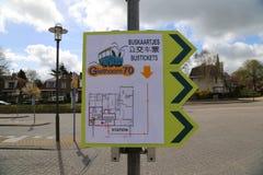 Nederländerna - 13 APRIL: Ingen Station för buss 70 i Steenwijk, Nederländerna på 13 April 2017 Arkivbilder