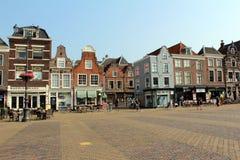 Nederländerna delftfajans, marknadsfyrkant Fotografering för Bildbyråer
