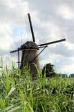 Nederländerna Kinderdijk, väderkvarn Arkivfoton