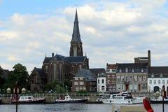 Nederländerna Maastricht, St Martin Church Arkivfoto