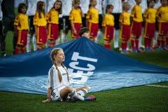 Nederländerna vs Danmark i uppgift under fotboll M Arkivbild