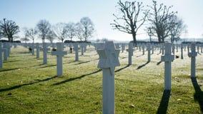 Nederländsk amerikansk kyrkogård Arkivfoton