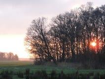 nederländsk solnedgång Royaltyfri Fotografi