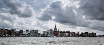 Nederländsk stad på vattnet Arkivfoton