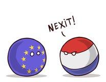 NEDERLÄNDSK UTGÅNG FRÅN EU-euroutgången vektor illustrationer
