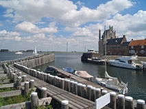 nederländsk veere zeeland Arkivbilder