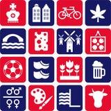 nederländska pictograms Arkivbild