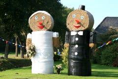 nederländskt bröllop för bönder Arkivfoton