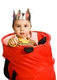 Nederlag för liten unge royaltyfria foton