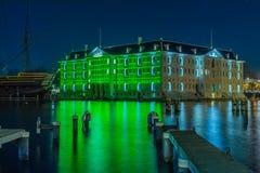 Nederland - Amsterdam - het Lichte Festival 2016-2017 van Amsterdam Royalty-vrije Stock Afbeelding