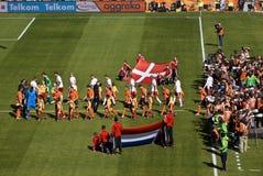 Nederland versus WC 2010 van Denemarken - van FIFA Royalty-vrije Stock Foto