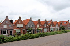 Nederland, Volendam, typische gebouwen Stock Foto's