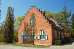 Nederlands baksteenhuis Stock Afbeelding
