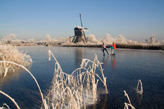 Nederlands de winterlandschap 2 stock foto