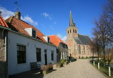 Nederlands dorp royalty-vrije stock afbeelding
