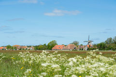 Nederlands dorp in Terschelling Stock Foto