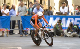 Nederlands, Floortje Mackaij . UCI road world championshi Stock Image