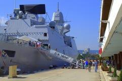 Nederlands fregat, de haven van Varna, Bulgarije Stock Afbeelding