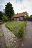 Nederlands huis in de voorsteden Stock Afbeelding