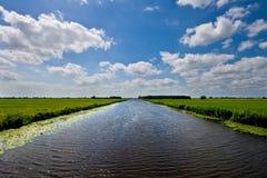 Nederlands kanaal stock afbeelding